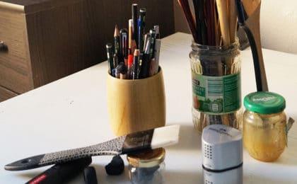 matériel de dessin