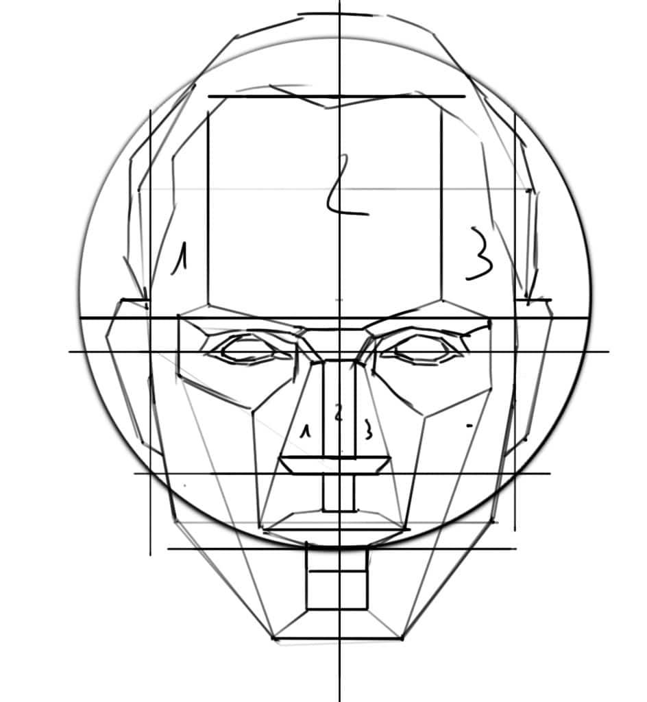 Comment Dessiner Un Visage De Face Artcademy Atelier