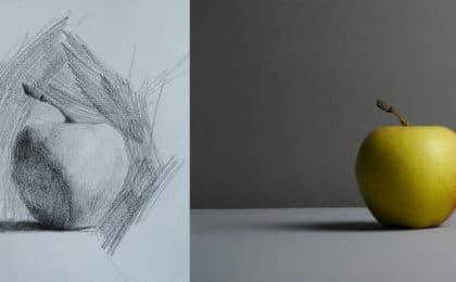 comment dessiner une pomme