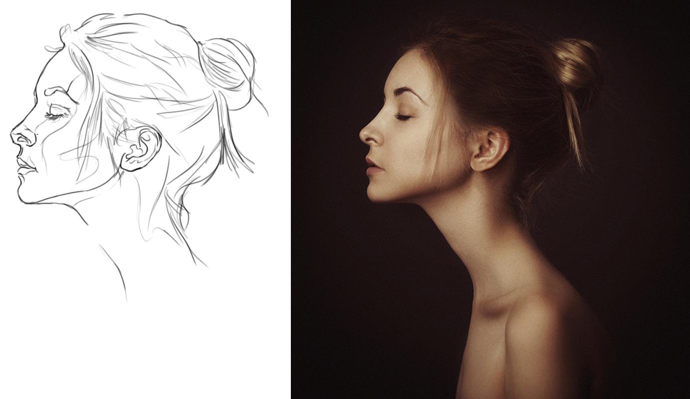 Comment dessiner un visage de profil ?