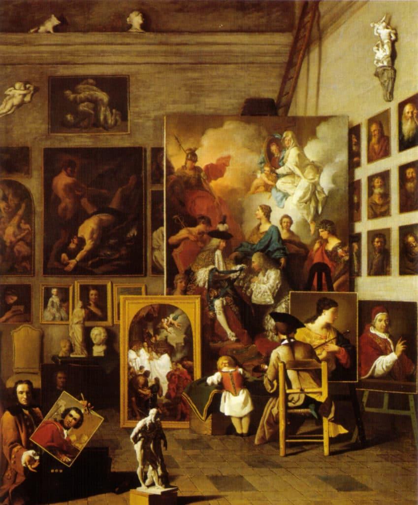 les écoles d'art. Pierre Subleyras, The artist studio