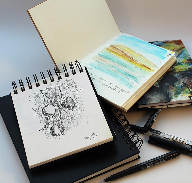 comment dessiner tous les jours dans un carnet de croquis